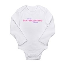 Cute Skateboarding baby Long Sleeve Infant Bodysuit