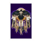 Native Crow Mandala 35x21 Wall Decal