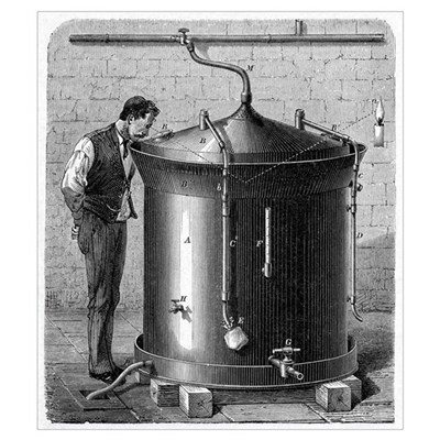 Brewery vat, 19th century Poster