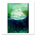 Snowy Mountain Square Car Magnet 3