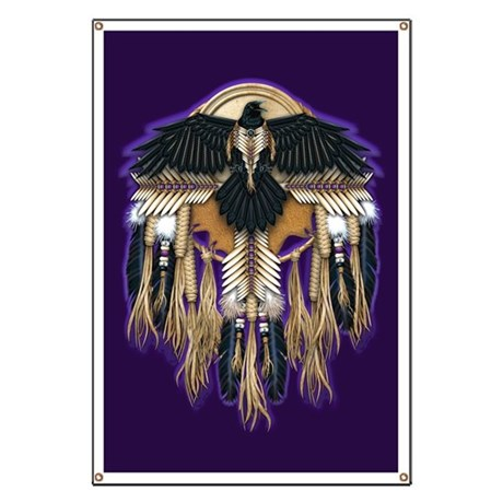 Native Crow Mandala Banner