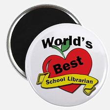 Cute School librarian Magnet