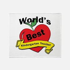 Funny Best kindergarten teacher Throw Blanket