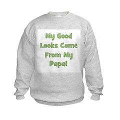 Good Looks From Papa - Green Sweatshirt