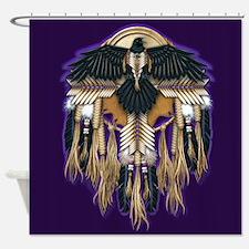Native Crow Mandala Shower Curtain
