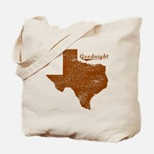 Goodnight, Texas (Search Any City!) Tote Bag