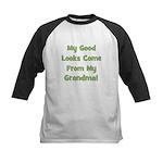 Good Looks From Grandma - Gre Kids Baseball Jersey