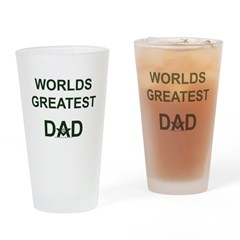 Worlds greatest Dad and Mason Drinking Glass