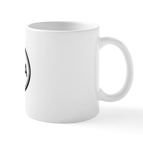 Santa Paula oval Mug