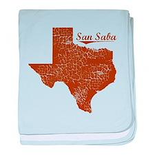San Saba, Texas (Search Any City!) baby blanket
