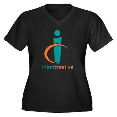 Ihloff Creative Logo Women's Plus Size V-Neck Dark