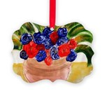 Flowers in Pot Picture Ornament