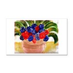 Flowers in Pot Rectangle Car Magnet