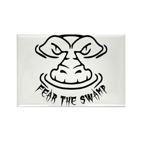 Fear the Swamp Gator Rectangle Magnet