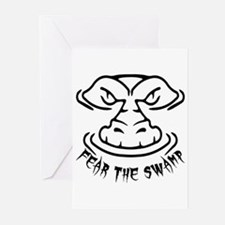 Fear the Swamp Gator Greeting Cards (Pk of 20)