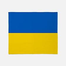 Flag of the Ukraine Throw Blanket