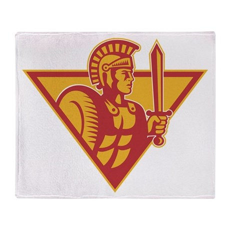 Roman Centurion Soldier With Sword And Shield Sta
