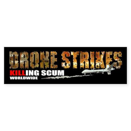 Drone Strikes killing scum Sticker (Bumper)