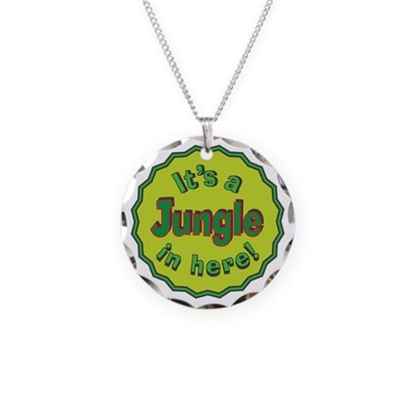 It's a Jungle in Here Necklace Circle Charm