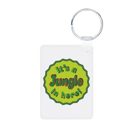 It's a Jungle in Here Aluminum Photo Keychain