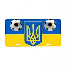 Ukrainian Football Flag Aluminum License Plate