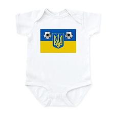 Ukrainian Football Flag Infant Bodysuit
