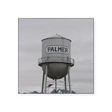 Palmer Town, Alaska Water Tower Square Sticker 3&q