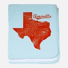 Amarillo, Texas (Search Any City!) baby blanket