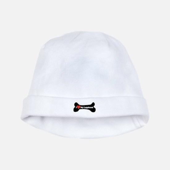 I Love My Lapphund - Dog Bone baby hat
