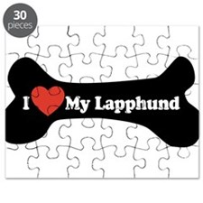 I Love My Lapphund - Dog Bone Puzzle