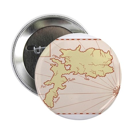 "Vintage Map of Island 2.25"" Button (100 pack)"