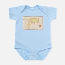 Vintage Map of Island Infant Bodysuit