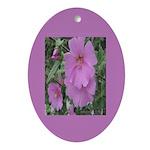 Fe's Pink Malva Oval Ornament
