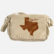 Gustine, Texas (Search Any City!) Messenger Bag
