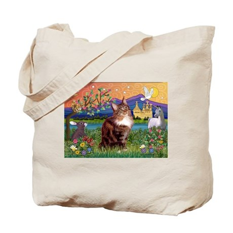 Maine Coon in Fantasy Land Tote Bag