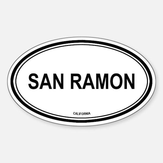 San Ramon oval Oval Decal