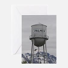 Palmer Town, Alaska Water Tower Greeting Card