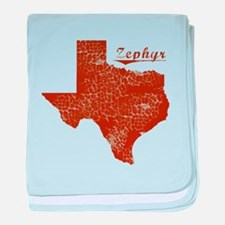 Zephyr, Texas (Search Any City!) baby blanket