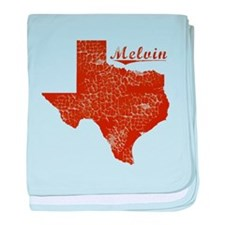 Melvin, Texas (Search Any City!) baby blanket
