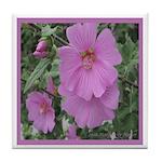 Fe's Pink Malva Tile Coaster