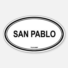 San Pablo oval Oval Decal