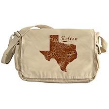 Kelton, Texas (Search Any City!) Messenger Bag