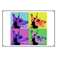 Doberman Pop Art Banner