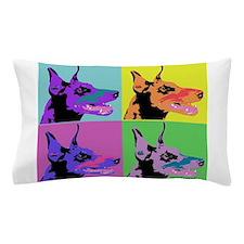 Doberman a la Warhol Pillow Case