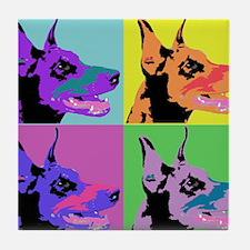 Doberman Pop Art Tile Coaster
