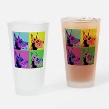Doberman Pop Art Drinking Glass