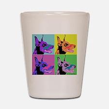 Doberman Pop Art Shot Glass
