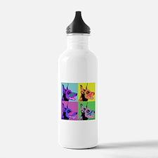 Doberman Pop Art Water Bottle