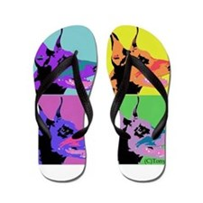 Doberman Pop Art Flip Flops