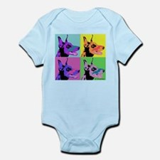 Doberman Pop Art Infant Bodysuit